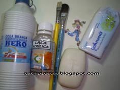 "°• ""Artes da Táta"" •°: Apostila Decoupage em sabonete Perfume, Diy Home Crafts, Soap Making, Creations, Homemade, Gifts, Shabby Chic, Gift Baskets, Soaps"