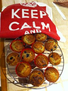 Banana and blueberry muffins.