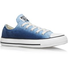 Ct Sunset Low Converse Blue ($72) ❤ liked on Polyvore featuring shoes, sneakers, blue, converse, shoes/boots, blue shoes, blue sneakers, blue flat shoes, flat shoes and converse shoes