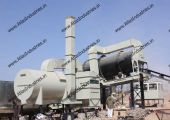 The double drum type asphalt plant is available in production ranges from 40 tph to 120 tph.