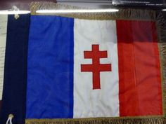 WW2 French flag with the cross of Lorraine - Picture of Army ...