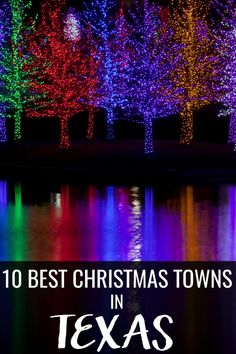 Get in the holiday spirit with the 10 best Christmas towns in Texas! All of the decorations, lights, and even snow to feel Christmas all season long! Texas Getaways, Texas Vacations, Texas Roadtrip, Texas Travel, Family Vacations, Christmas Events, Christmas Town, Christmas Travel, Holiday Travel