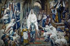 Relive the Bible Story of the First Palm Sunday: Procession in the Streets of Jerusalem, by James Tissot.