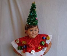 Homemade Ugly Christmas Sweater, Diy Ugly Christmas Sweater, Tacky Christmas Outfit, Christmas Tree Costume Diy, Christmas Tree Headband, Tacky Christmas Party, Holiday Costumes, Christmas Bells, Tacky Sweater