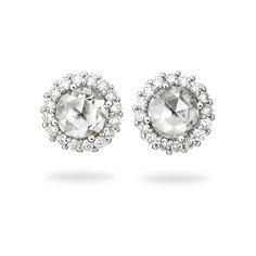 Paul Morelli Rose-Cut Diamond Stud Earrings in 18K White Gold EKeHppwd