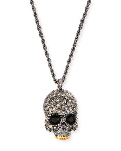 Elements Crystal Skull Pendant Necklace by Alexis Bittar at Neiman Marcus.