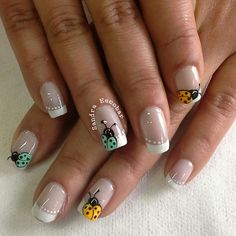 Amazing Tips For The Best Summer Nails – NaiLovely Nail Art Hacks, Gel Nail Art, Manicure And Pedicure, Pedicures, Fancy Nails, Pretty Nails, Ladybug Nail Art, Spring Nail Art, Hot Nails