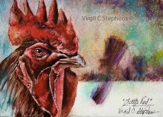 Little Red, original oil painting by Virgil C. Stephens  New original available $350
