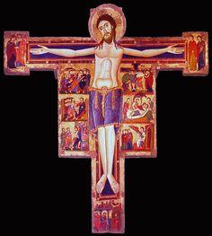 Maestro di Rosano, Croce con storie della Passione