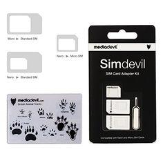MediaDevil Simdevil 3in1 SIM Card Adapter Kit Nano  Micro  Standard *** Read more  at the image link.
