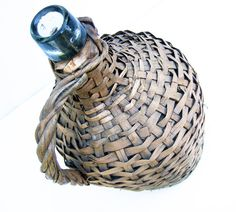Wicker demijohn Vintage decor from France by FrenchGypsy on Etsy, $32.00