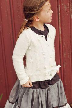 Jottum Koosje Off White Cardigan #littleskyefall2012