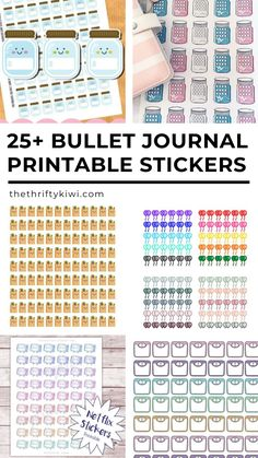 Free PDF Planner Printable Stickers That'll Make Your Bullet Journal More Functional - The Thrifty Kiwi 2018 Planner, Free Planner, Planner Pages, Happy Planner, Planner Ideas, Printable Planner Stickers, Free Printables, Planner Organization, Organizing