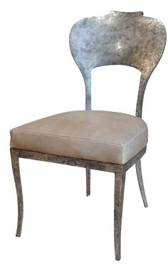 Beverly Side Chair - Scrolled Aluminum Frame w/ Upholstered Seat