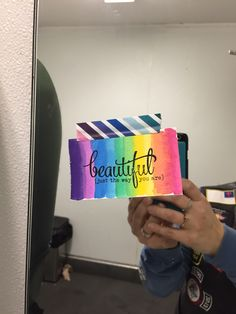 I left my first tract that I made at Sonic today. #handmadetract #handmadecard #stamping #stamps #vervestamps #Godlovesyou #beautifuljustthewayyouare #rainbow #rainboworder #paperblessings3