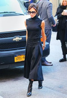 Victoria Beckham work outfit - Pair a Cotton Top With Polished Pants, Not Jeans