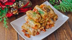 My recipe for traditional Romanian Cabbage Rolls (Sarmale) are made with sour cabbage stuffed with pork, beef and bacon. They're the best cabbage rolls! Easy Cabbage Rolls, Cabbage Rolls Recipe, Heart Healthy Recipes, Gourmet Recipes, Cooking Recipes, Healthy Food, Sour Cabbage, Cabbage Leaves, Easy Stuffed Cabbage
