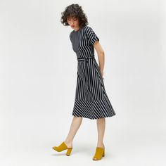 Discover new season clothes and accessories at Warehouse. Shop the latest style and trends across women's and men's fashion now. Short Sleeve Dresses, Long Sleeve, Striped Dress, Dresses Online, Party Dress, Dresses For Work, Denim, Warehouse, Shopping