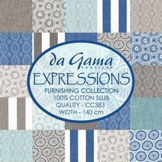 Expressions Furnishing Collection by Da Gama Textiles. Textiles, Fabric Design, Printing On Fabric, Cotton Fabric, Interior Decorating, South Africa, Projects, Prints, Beautiful