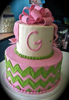 chevron birthday cake