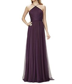 PinRro Sexy Backless Plum Tulle Wedding Bridesmaid Dresses 2017 For Women Pin934 *** Read more reviews of the product by visiting the link on the image.