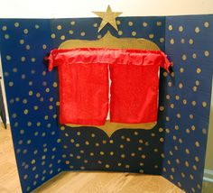 Puppet Theater from a Cardboard Box #DIY #cardboard #puppets