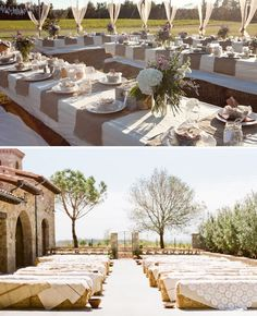 Burlap and lace wedding. Love me some burlap and lace!