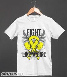 Spina Bifida Ultra Fight Like a Girl Shirts