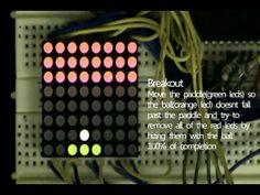 Nokia snake on 8x8 LED matrix using Arduino & joystick (FREE CODE DL) - YouTube