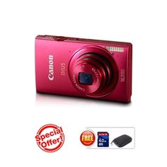 CANON IXUS 240 HS(Red) (16.1 MP HS CMOS, 5X Optical Zoom, 8.1cms LCD Screen Full HD. )