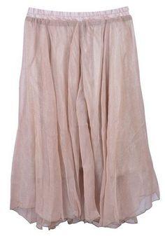 dusk pink layered skirt
