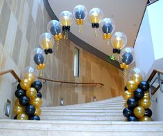 black and gold balloon columns 21st Birthday Themes, First Birthday Party Decorations, 50th Birthday Party, Ballon Arch, Balloon Columns, Prom Balloons, Birthday Balloons, Black And Gold Balloons, Banquet Centerpieces