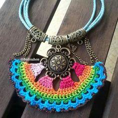 Kolye Crochet Earrings Pattern, Bead Crochet, Crochet Necklace, Crochet Patterns, Tatting Jewelry, Crochet Accessories, Jewelry Patterns, Crochet Flowers, Jewelery