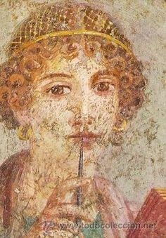 Poetisa de la casa de Libanio. Pompeya (Siglo I a. J.C.)
