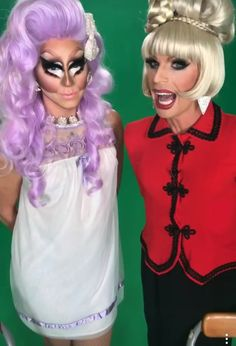 Katya & Trixie filming the new season of UNHhhh
