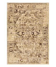 Take a look at this Beige Distressed Abstract Rug today!
