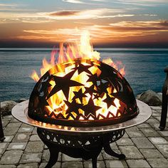 Shop outdoor fire pits, wood-burning fire pits and propane gas fire pits, and fire pit tables, fire pit covers, fire bowls and more backyard fire pit ideas. Copper Fire Pit, Fire Pots, Deco Luminaire, Into The Fire, Outdoor Living, Outdoor Decor, Indoor Outdoor, My Dream Home, The Great Outdoors