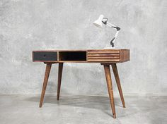This retro designed office desk will drawer your eye lids back as you pause for 1 to 2 seconds to appreciate...