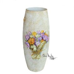 Купить Ваза для цветов Крокусы, ваза для дома - ваза ручной работы, ваза для цветов