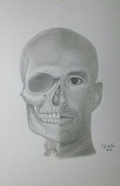 My face and skull mash-up