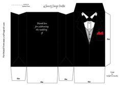 The Tuxedo on Craftsuprint designed by Tracey Drage-Baillie - A simple design to print, cut out