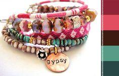 Bohemian hippie bracelet from OOAKjewelz on Etsy