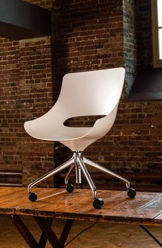 Touch is designed by Jones & Partners for thinking.info. Touch is an evolution of the work chair, designed for use in short bursts of activity.  www.jonespartners.eu #ProductDesign #Chair