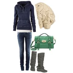 #Winter outfit #kathyna257892 #fashionoutfit www.2dayslook.com Hats, Winter Style, Personal Style, Casual Winter, Green Purs, Winter Outfits, Knit Scarves, Brown Boots, Shoe