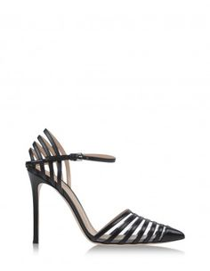 Gianvito Rossi Strappy Leather & PVC Pump