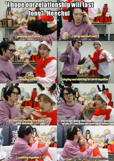 Heechul and Baekhyun's friendship <3 Love you to <3 SUJU EXO