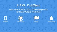 How to Kickstart your HTML | Webdesigner Depot