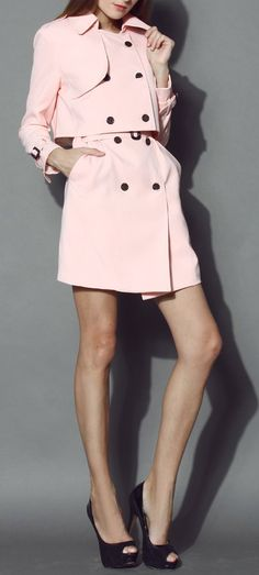 Pink trench