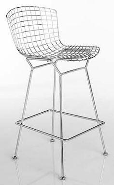 Bertoia Barstool> - Design Within Reach