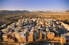 Yemen's Old Walled City of Shibam is the oldest metropolis in the world to use vertical construction.